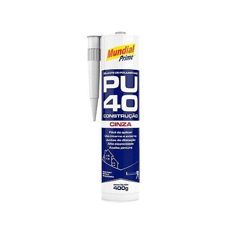 Selante Poliuretano PU40 Cinza 400g Mundial