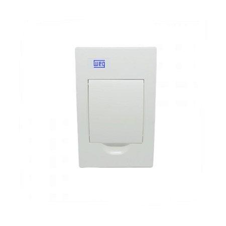 Quadro De PVC Embutir Sem Barramento 04 Disjuntor Branco Weg