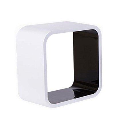 Nicho De Plástico 26cm Branco Com Preto Astra