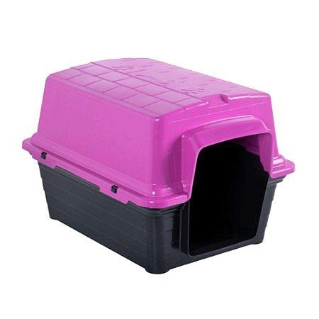 Casinha Plástica Para Cachorro N2 52x41x40cm Rosa Astra Pet