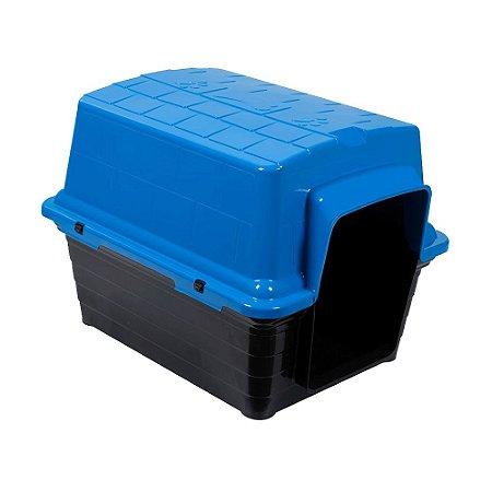 Casinha Plástica Para Cachorro N4 67x51x51cm Azul Astra Pet