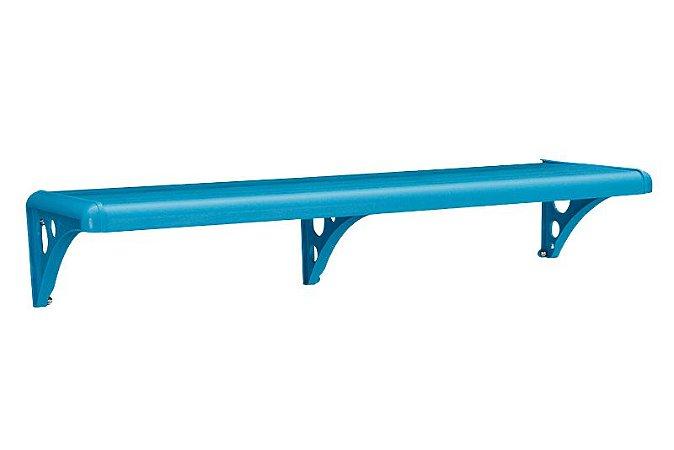 Prateleira Com Suporte De Plástica Azul 100x20 Astra