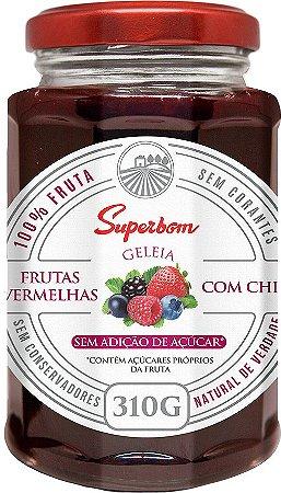 Geleia Frutas Vermelhas com Chia 310g sem Adição Açúcar