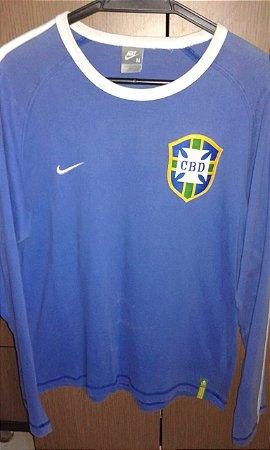 Camisa Nike Seleção Brasileira Manga Longa, Réplica copa 1958, Tam M Edição comemorativa 50 anos