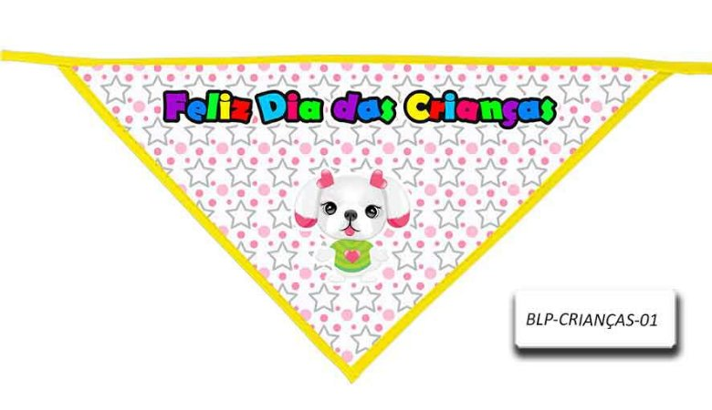 Kit 10 Bandanas -Dia das crianças- 01