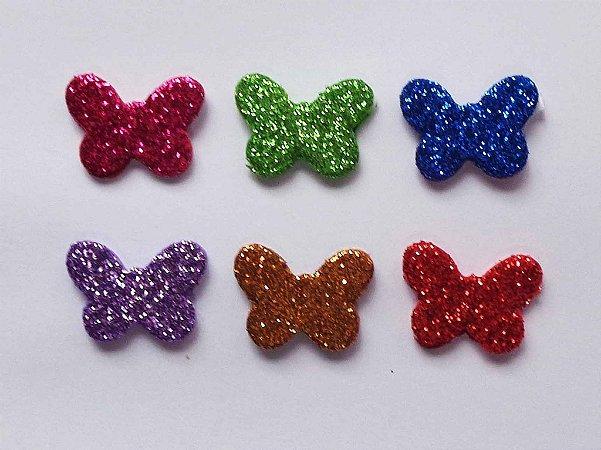 Adesivos E.V.A Glitter Borboleta - 10 unids