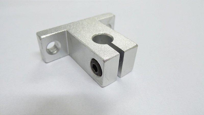 Suporte Bloco Alumínio para Barra 8mm - unidade