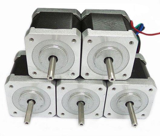 Motor Nema 17  42BYGHW804 - kit com 5 unidades