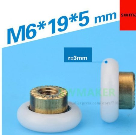 Roldana Para Impressora 3d Kossel K800 - Kit 3 Unid