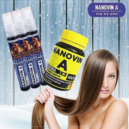 Nanovin A - Complexo Vitamínico +3 Tônico Krina de Cavalo