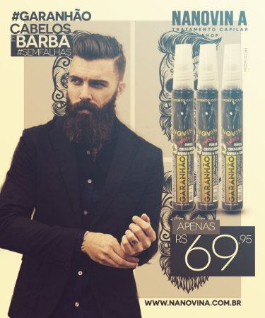 Nanovin A Garanhão - Cabelo e Barba - Kit com 3 unidades