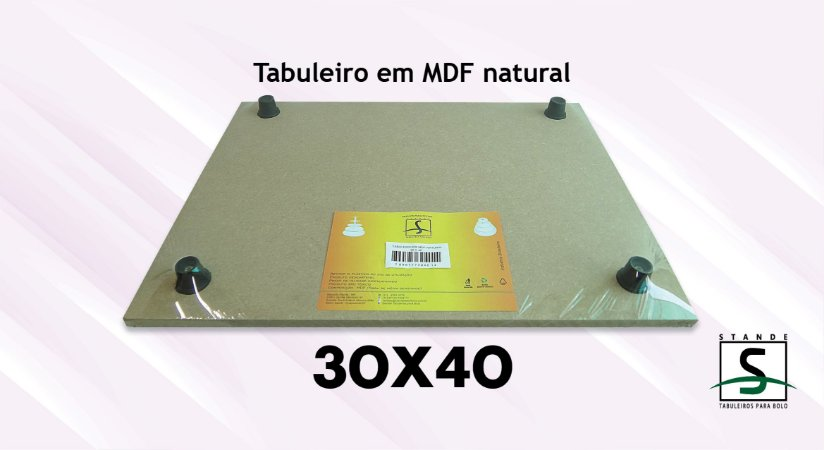 Tabuleiro em MDF Retangular Natural