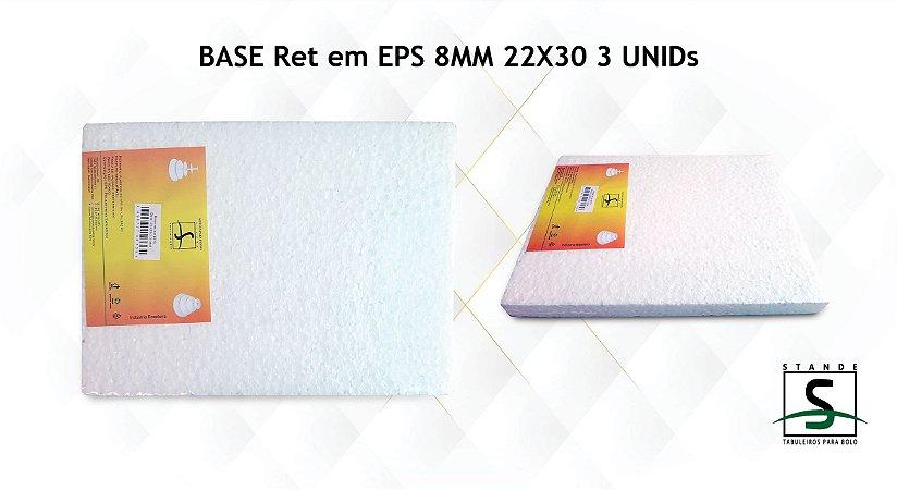 Base em EPS retangular - 3 unidades - EPS de 8mm