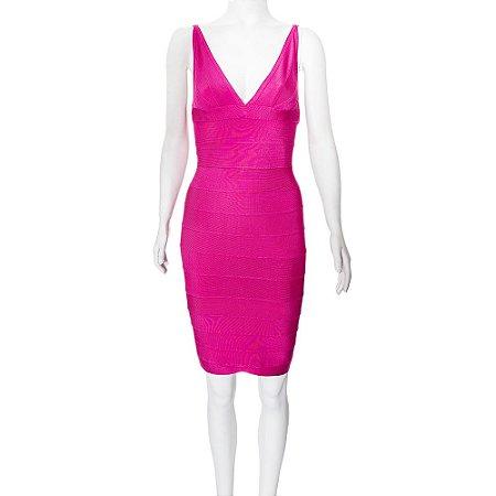 HERVÉ LÉGER | Vestido Hervé Léger Viscose Rosa Pink