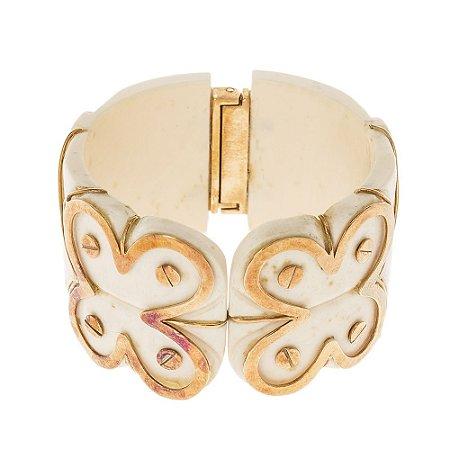 SM | Bracelete Sem Marca Marfim Flores