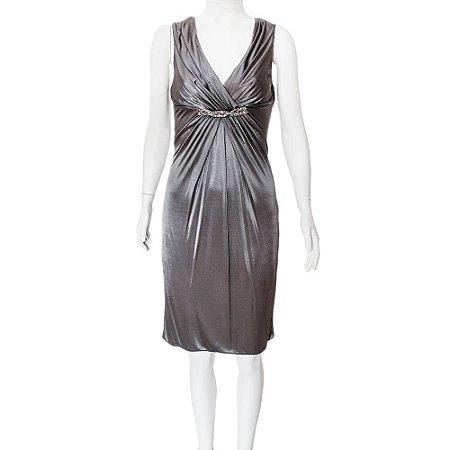 VERSACE   Vestido Versace Viscose Cinza