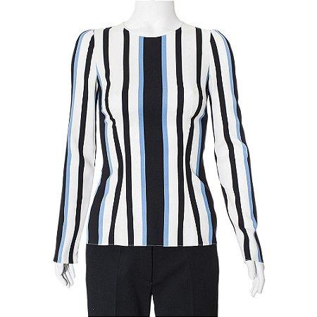 DOLCE & GABBANA | Blusa Dolce & Gabbana Listrada Azul