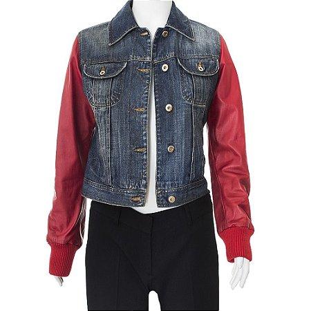 DOLCE & GABBANA   Jaqueta Dolce & Gabbana Jeans e Couro