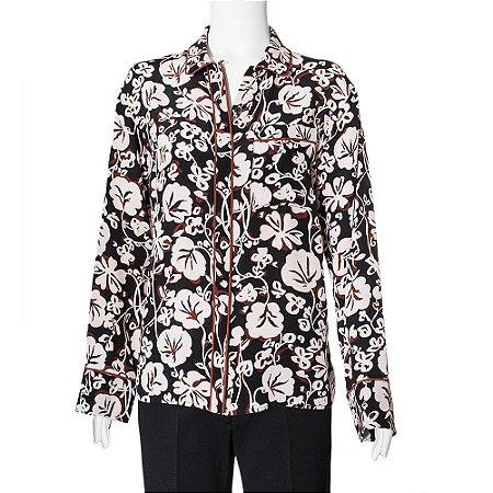 KENZO   Camisa Kenzo Seda Estampada Floral