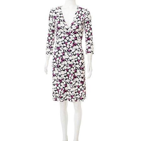DIANE VON FURSTENBERG | Vestido Diane Von Furstenberg Wrap Seda Floral