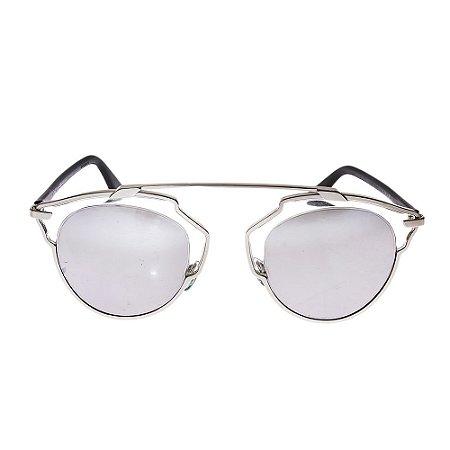 CHRISTIAN DIOR   Óculos Christian Dior Metal Espelhado Prateado