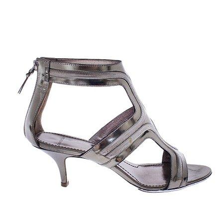 GIVENCHY | Sandália Givenchy Couro Metalizado Chumbo