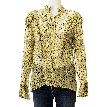 ZADIG & VOLTAIRE | Camisa Zadig & Voltaire Seda Amarela Estampada
