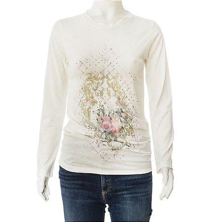 BALMAIN| Camiseta Balmain Algodão Branca e Rosa
