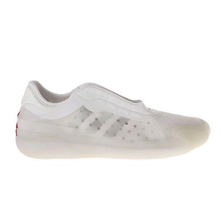 PRADA   Tênis Prada/Adidas Nylon e Borracha Branco