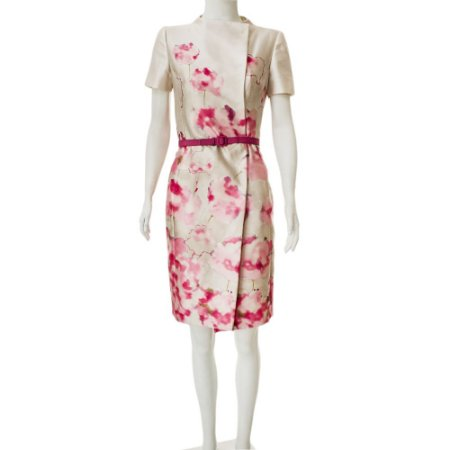 VALENTINO | Vestido Abotoado Valentino Seda Estampado
