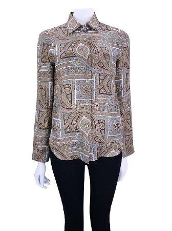 PRADA | Camisa Prada Seda Estampada Paisley