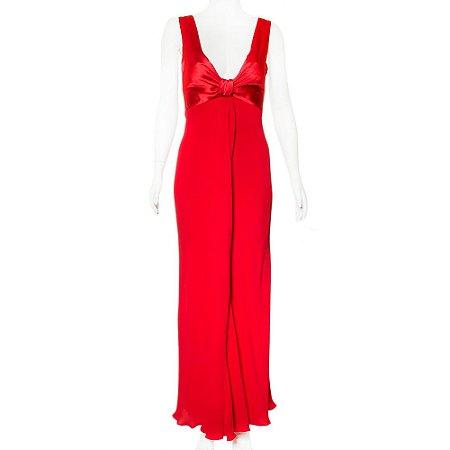 VALENTINO | Vestido Valentino Seda Longo Vermelho