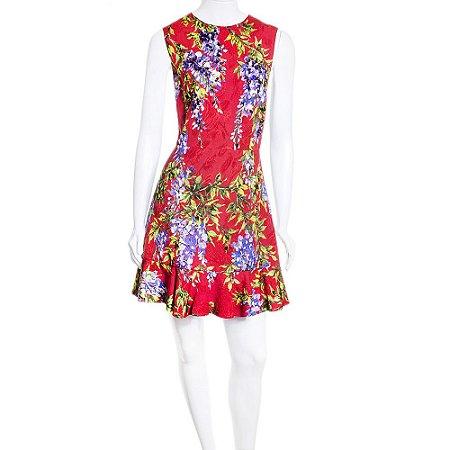 DOLCE & GABBANA | Vestido Dolce & Gabbana Algodao Brocado Vermelho