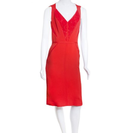 J. MENDEL | Vestido J. Mendel Viscose Recortes Vermelho