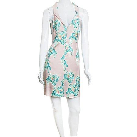 GIANNI VERSACE| Vestido Gianni Versace Seda Rosa