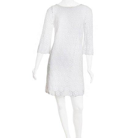 DOLCE & GABBANA   Vestido Dolce & Gabbana Algodao Guipir Branco