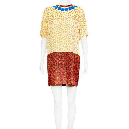 LOUIS VUITTON | Vestido Louis Vuitton Seda Poá