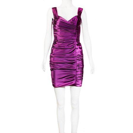 DOLCE & GABBANA | Vestido Dolce & Gabbana Seda Roxo