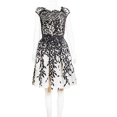 BLUMARINE   Vestido Blumarine Seda Preto e Branco