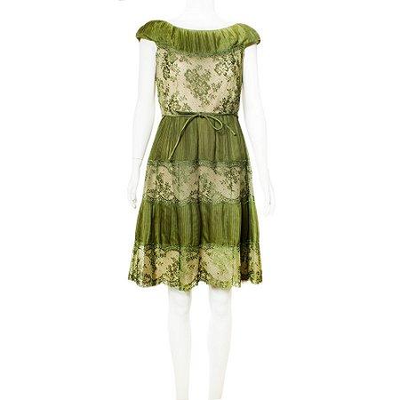VALENTINO   Vestido Valentino Seda Verde