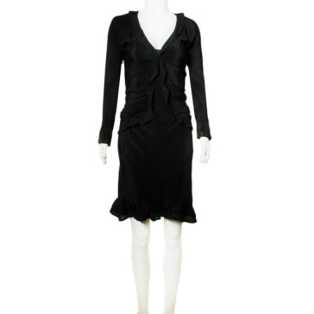 YVES SAINT LAURENT | Vestido Yves Saint Laurent Seda Preta