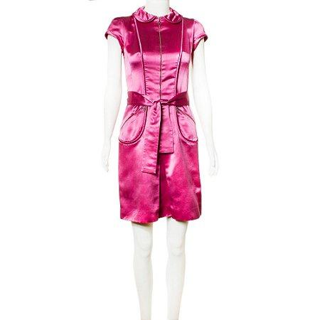 LOUIS VUITTON | Vestido Louis Vuitton Seda Rosa