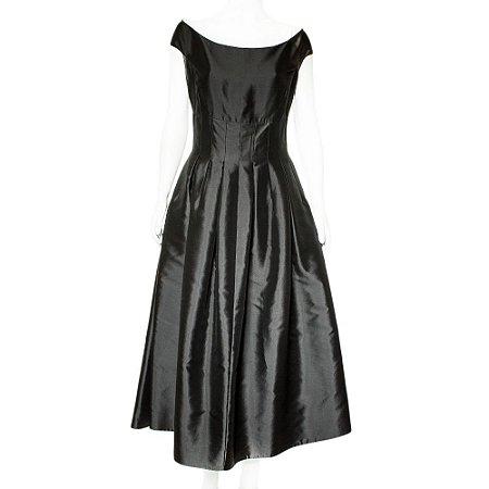 DIOR   Vestido Dior Seda Preto