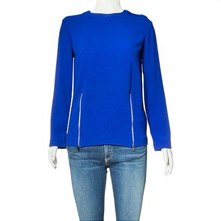 STELLA MCCARTNEY   Blusa Stella McCartney Acetato Azul