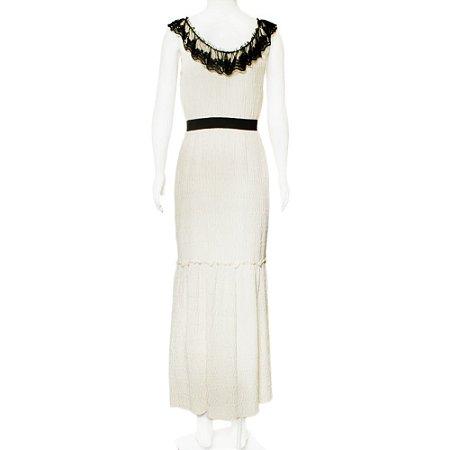 BEHAZ SARAFPOUR | Vestido Behnaz Sarafpour Seda Off White