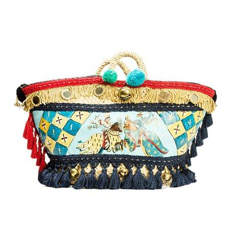 DOLCE & GABBANA | Bolsa Dolce & Gabbana Cesta Palha e Lona Pintada