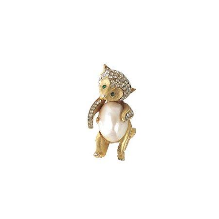 FRED U PERRY | Broche Fred U Perry Esquilo Dourado