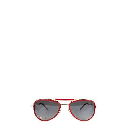 CARTIER | Óculos Cartier Acrilico Vermelho/Marrom