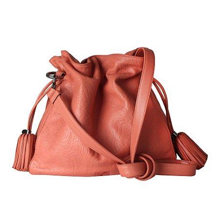LOEWE | Bolsa Bucket Loewe de Couro Pessego