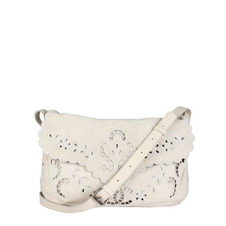 CHANEL | Bolsa Chanel Chamoix Marfim